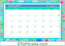 Calendario Deco - Junio 2018