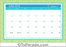 Calendario Deco - Julio 2018