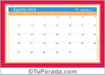 Calendario Deco - Agosto 2018