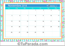 Calendario Deco - Noviembre 2018