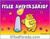 Cartão de aniversário multicolor