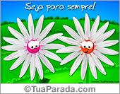 Cartão da amizade com flores