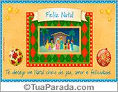 Cartão de presépio de Natal