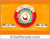 Cartões postais: Cartão de Natal com Papai Noel