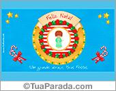 Cartões postais: Cartão de Natal alegre com anjo