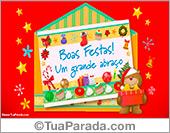 Cartões postais: Cartão de surpresa de Natal