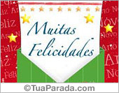 Cartão: Muitas Felicidades