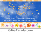 Cartões postais: Feliz ano novo