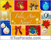 Cartões postais: Cartão do ano novo com imagens