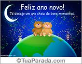 Cartões postais: Feliz ano novo com mundo