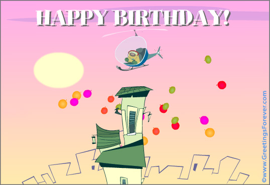 Happy birthday from the air
