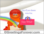 Greeting ecards: May your dreams come true