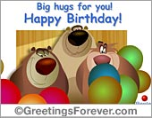 Ecard - Big hugs for you!