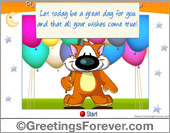 Interactive birthday ecard