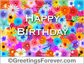 Greeting ecards: Birthday e-card