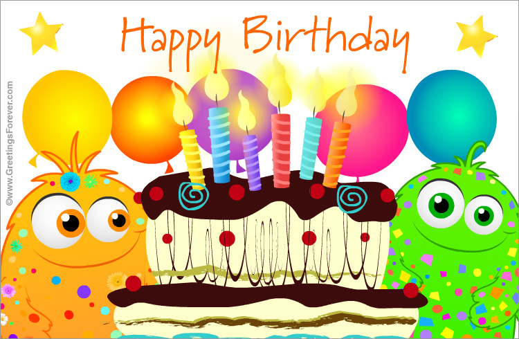 Big Birthday Cake Images With Name : Happy birthday with big cake, Happy Birthday, greeting cards