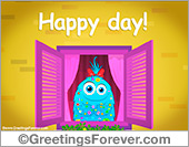 Greeting ecards: Happy day window ecard