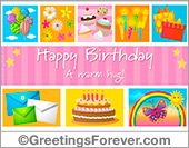 Birthday ecard with cupcakes
