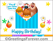 Greeting ecards: Birthday ecard with warm wishes