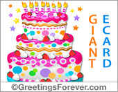 Ecard - Giant ecard for birthday in pink