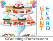 Ecards: Giant card with cupcakes