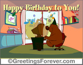Greeting ecards: Happy birthday to you!