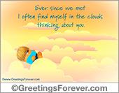Greeting ecards: Ever since we met...