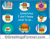 Greeting ecards: When we are not together...