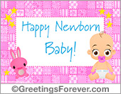 Ecards: Baby ecard for girls