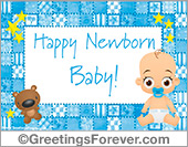 Ecards: Baby ecard for boys