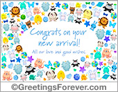 Congrats on your new arrival, baby boy ecard