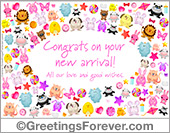 Congrats on your new arrival, baby girl ecard