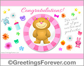 Congratulations for Baby Girl