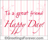 Labor Day - Greeting ecards: To a great friend...