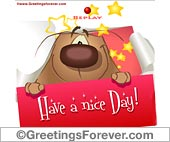 Greeting ecards: Have a nice day for you