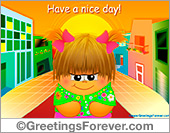 Greeting ecards: Have a nice day colorful ecard
