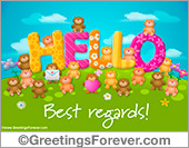 Ecards: Hello with little bears