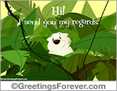 Ecard - I send you my regards!