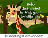 Ecards for children - Greeting ecards: I wish you a beautiful day
