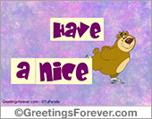 Labor Day - Greeting ecards: Have a nice day