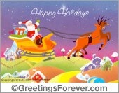 Happy Holidays virtual card
