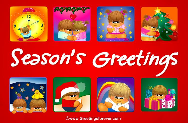 Ecard - Season's Greetings in red