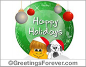 Ecard - Happy Holidays e-card