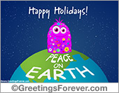 Greeting ecards: Peace on Earth ecard