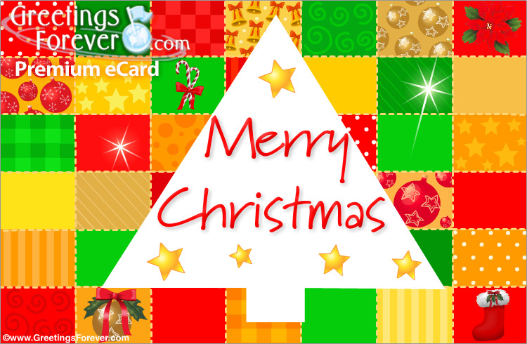 Ecard - Merry Christmas with lots of colors