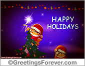 Greeting ecards: Warm wishes and happy holidays