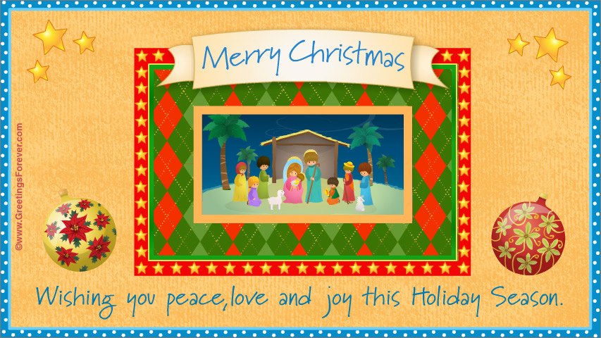 Ecard - Christmas nativity scene ecard