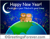 Greeting ecards: New Year ecards
