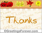 Colorful thanks ecard