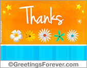 Thanks ecard in orange
